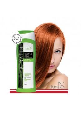 TianDe Szampon-maseczka z keratyną do włosów farbowanych