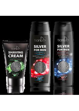 TianDe Zestaw dla mężczyzn krem do golenia, szampon i żel pod prysznic